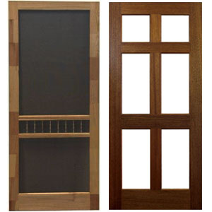 Wood Storm And Screen Doors Superior Building Supply